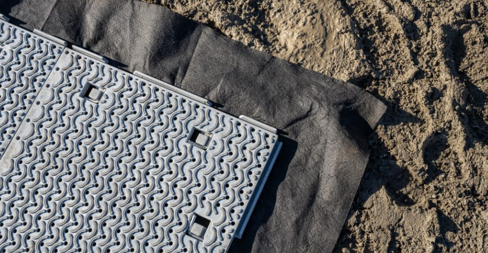 Woven Geotextile Fabric with WORKHORSE Panel