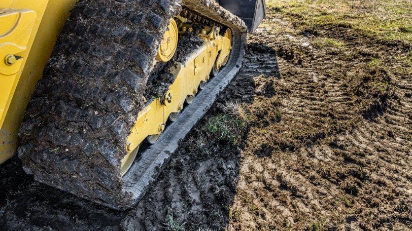 Construction Equipment on Mud